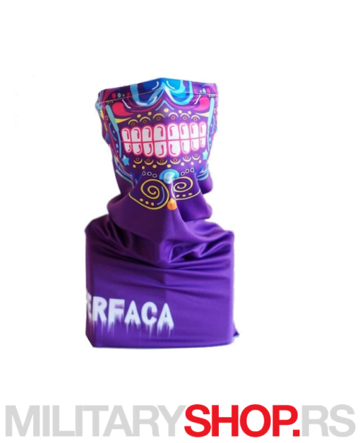 Ljubičasta bandana Superfaca Sugar Skull