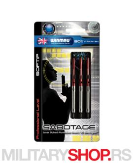 Strelice za elektronski pikado Sabotage Softdart