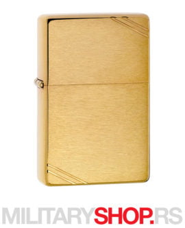 Zlatni Vintage Zippo upaljač Brushed Brass Slashes