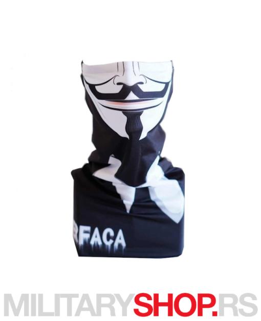 Superfaca crna bandana Anonimus