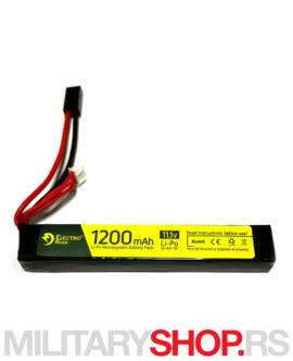 LiPo baterija za airsoft replike 11.1V 1200mAh