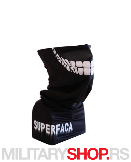 Crna bandana Superfaca Zli osmeh