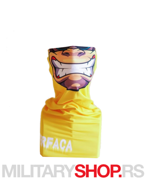 Superfaca bandana žute boje Gorila