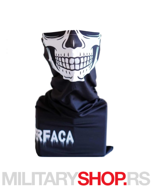 Superfaca bandana crne boje White Skull
