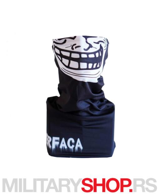 Superfaca bandana crne boje Troll