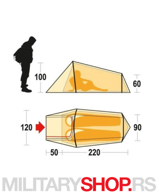 Šator za dve osobe Ferrino Sling
