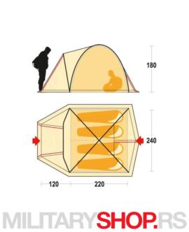 Kamperski šator zeleni Ferrino Tenere 4