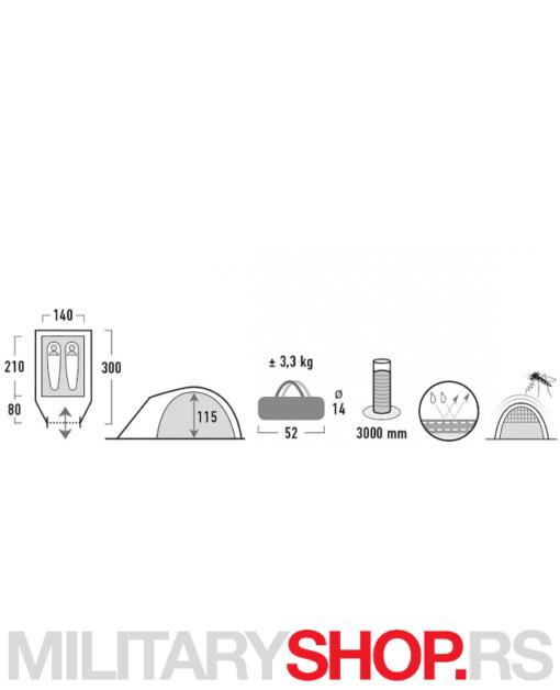 Kamperski šator High Peak Nevada 2