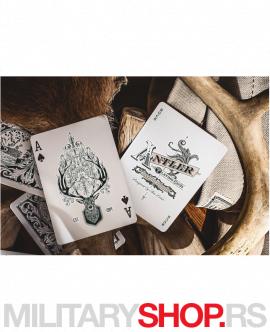 Karte sa lovačkim motivima Antler Maroon