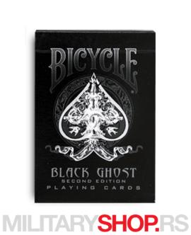 Karte crne boje Bicycle Black Ghost