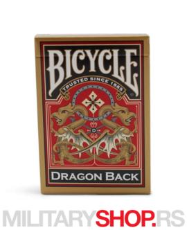 Zlatni zmaj karte Bicycle Dragon Gold