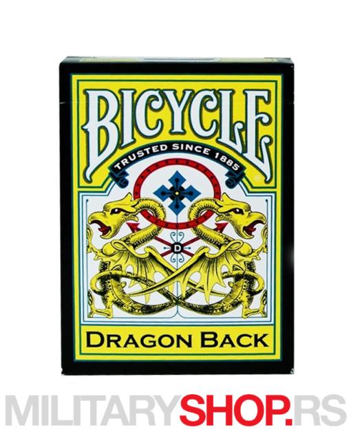 Žuti zmaj karte Bicycle Dragon Yellow