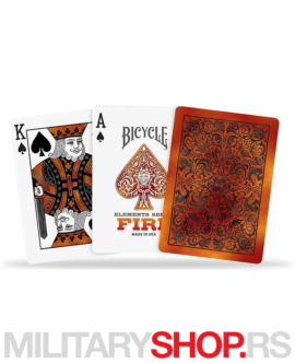Karte sa dizajnom vatre Bicycle Fire