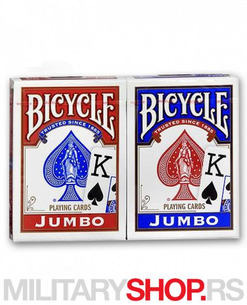 Karte za igranje Bicycle Jumbo