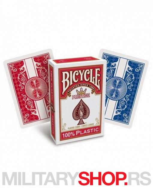 Karte Bicycle Prestige 100% plastične