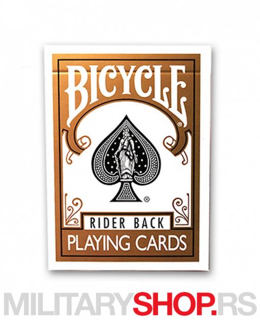 Karte za igranje zlatne Bicycle Gold