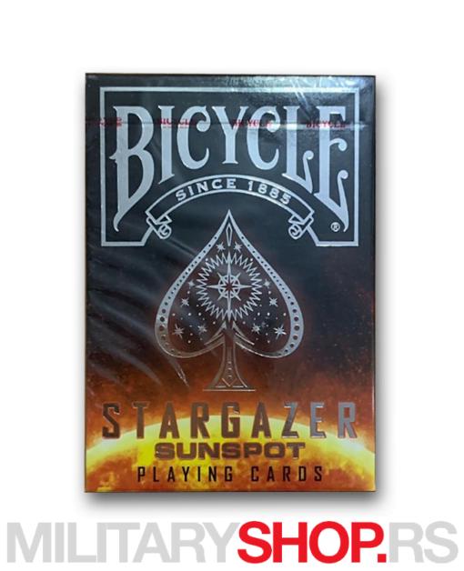 Karte crne boje Bicycle Stargazer Sunspot