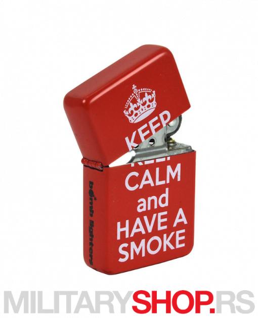 Crveni upaljač Keep Calm Have a Smoke