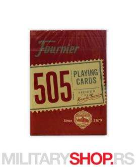 Karte za igranje crvene Fournier 505