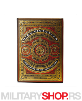 Karte za igranje crvene High Victorian