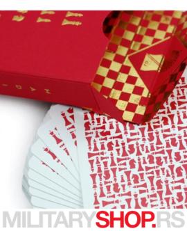 Špil karata za igranje Knights Red