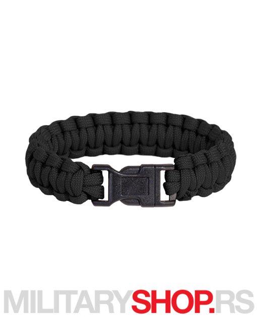 Narukvica Parakord crna Pentagon Pselion Bracelet