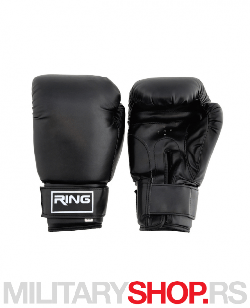 Rukavice za boks 12oz crne Ring