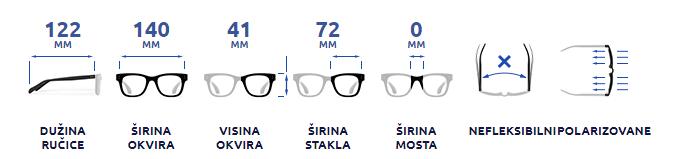 Sportske polarizovane naočare Arctica S-196A