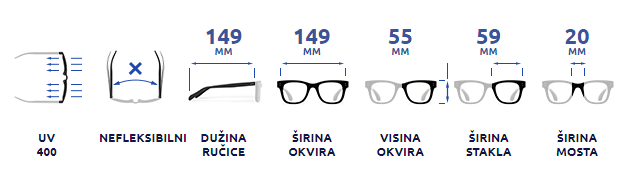Ženske naočare za sunce Joy NDL1380