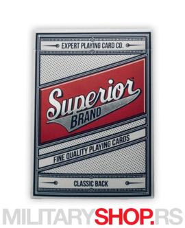 Karte za igranje Superior Red