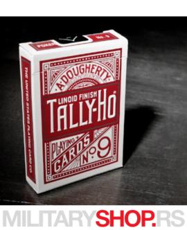 Špil karata crveni Tally Ho Titanium