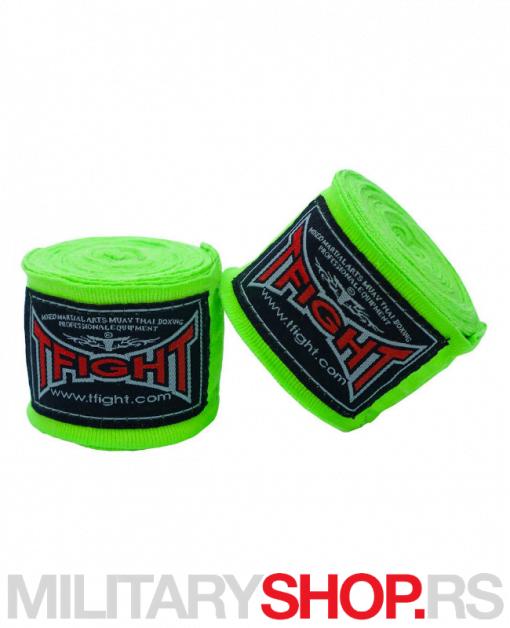 Bandažeri elastični 4.5m neon zeleni T-Fight