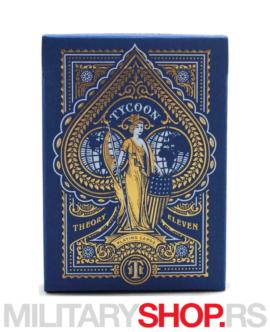 Karte za igranje Tycoons Blue Deck