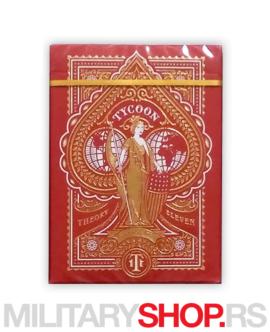 Karte za igranje Tycoons Red Deck