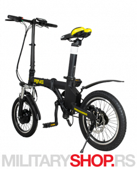 Električni bicikl sklopivi Ring RX16 crni