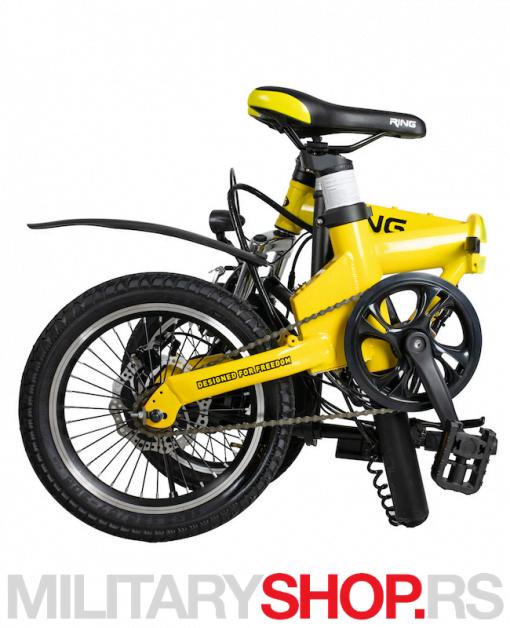 Električni bicikl sklopivi Ring RX16 žuti