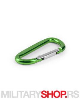 Privezak za ključeve Karabinjer zelena boja
