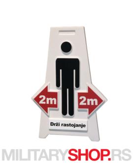 Znak drži rastojanje 2 metra