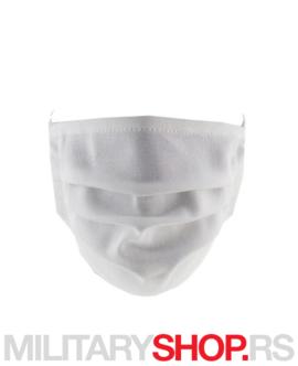 Bela pamučna zaštitna maska za lice