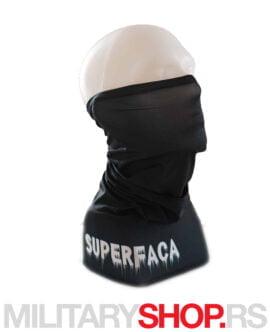 Superfaca crni skarf bandana