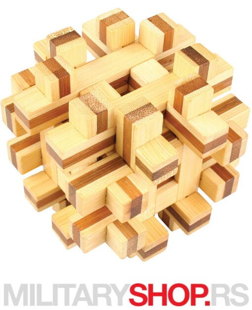 Drvena kocka za mozganje Double Frame