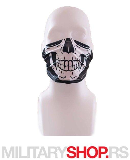 White Skull mini maska bandana za lice Superfaca