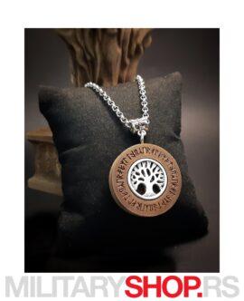 Srpske Rune - Ogrlica Drvo Sveta