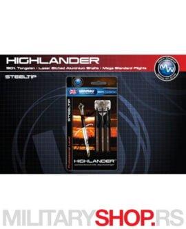 Metalne pikado strelice Highlander Steeldart