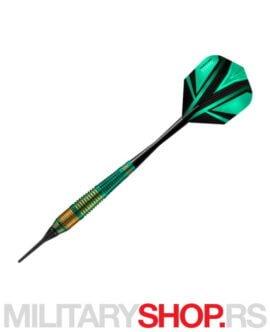 Strelice za pikado Vivid Green Softdart