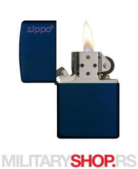 Upaljač teget navy mat sa Zippo logom