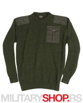 Zimski lovački džemper olive zeleni K34
