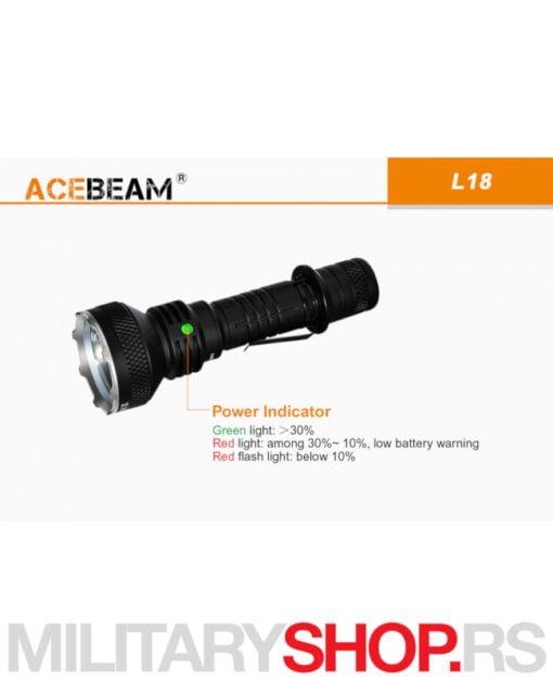 Komplet Acebeam lampa L18 sa baterijom i punjačem