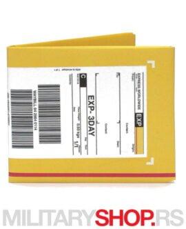 Novčanik sa dizajnom DHL koverte