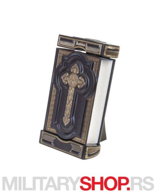 Sveto pismo zlatotisak na crnoj koži